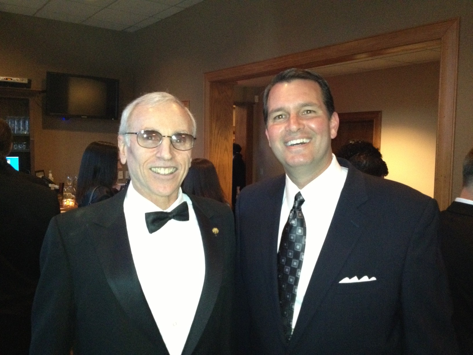 President and CEO, Garry B. Weinstein and Jim Klote at the Washington Hospital Gala